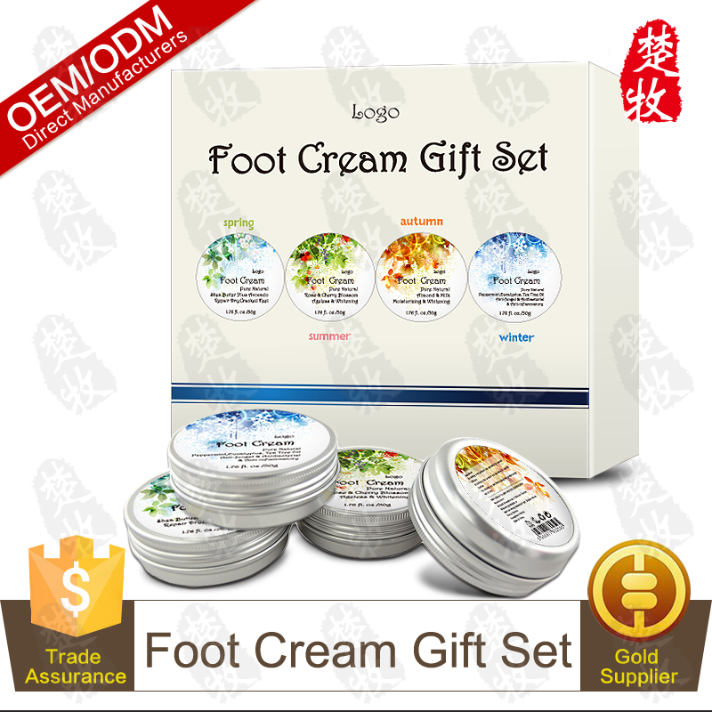 Four Seasons Foot Treat Cream Kit 50g*4,Moisture,Anti-fungal,Repair Dry,Cracked Feet