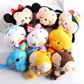 10 30 pcs lot Tsum Tsum mini figure plush pendant Mickey Minnie Winnie Stitch Donald dolls