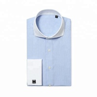 Luxury french cuff men 100%cotton business shirts