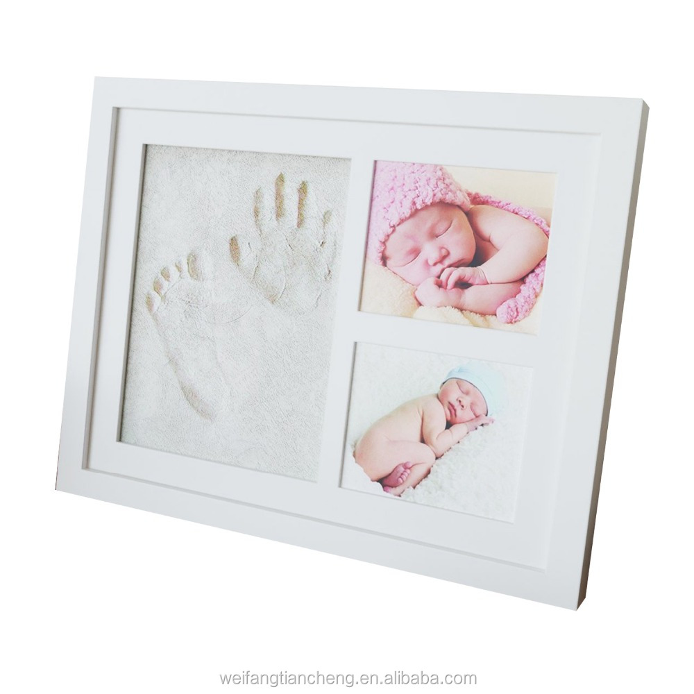 Baby Keepsake Hand Footprint Safety Clay Kit Photo Frame / Baby Shower Souvenir