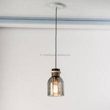 Glass shade LED bright ceiling light pendant lamp for hotel home restaurant inn motel light