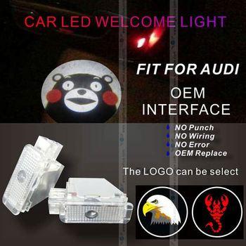 Nieuwe Draadloze Led Autodeur Logo Wit Logo Licht Projector Voor ...