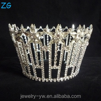 Star Shaped Round Crown Real Diamond Crowns And Tiaras Full Tiara