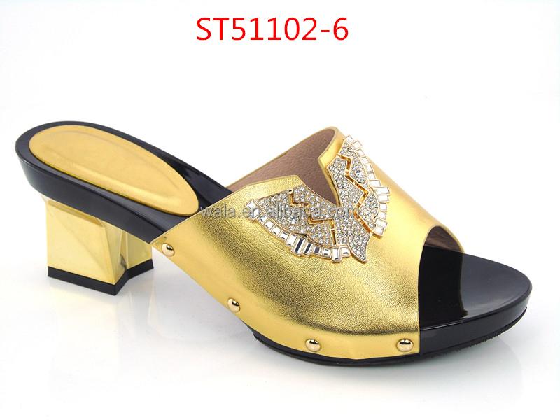 slippers sandals square 4 for shoes fashion heel red 2016 ST51102 women WRA8Hq