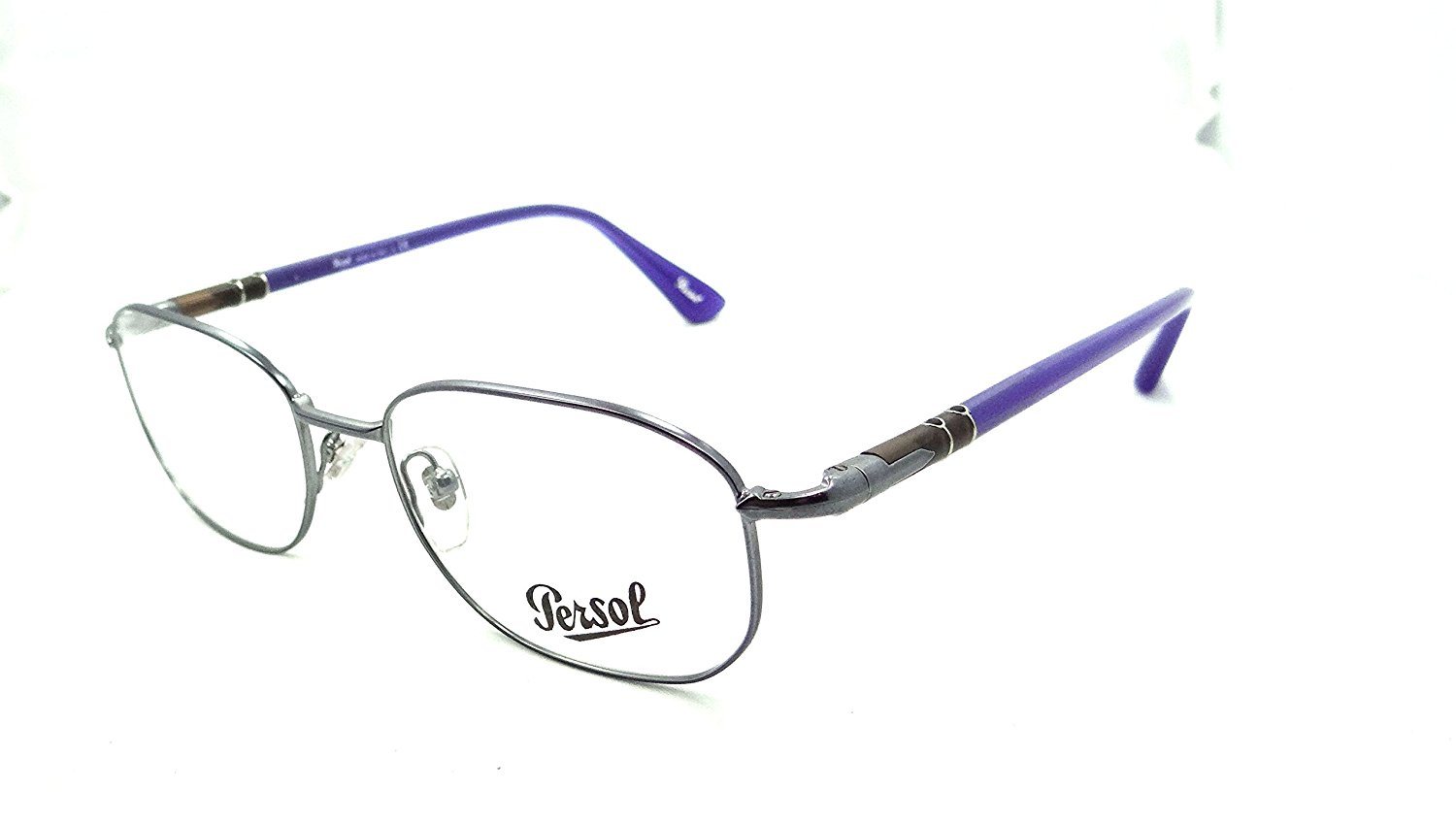 Persol Rx Eyeglasses Frames 2432 V 1057 51x18 Gunmetal with Blue Made in Italy