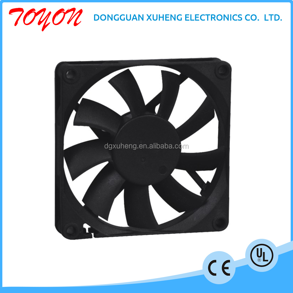 Toyon nhựa blade electric 12 v motor cooling fan