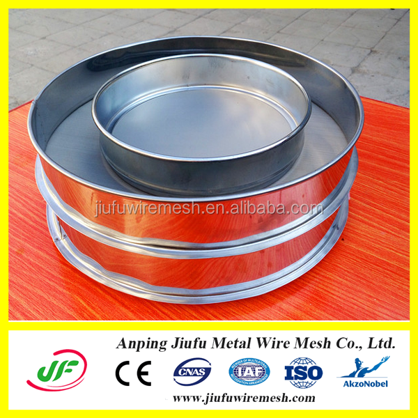 stainless steel 200 micron mesh grading sieve for test