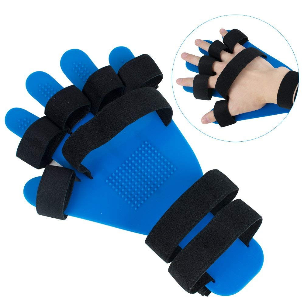 Zinnor Hand Wrist Orthosis Separate Finger Flex Spasm Extension Board,Hand Wrist Training Orthosis Device - Prevent Finger Flexion Convulsion Deformation - Suitable for Women Men and Left&Right Hand