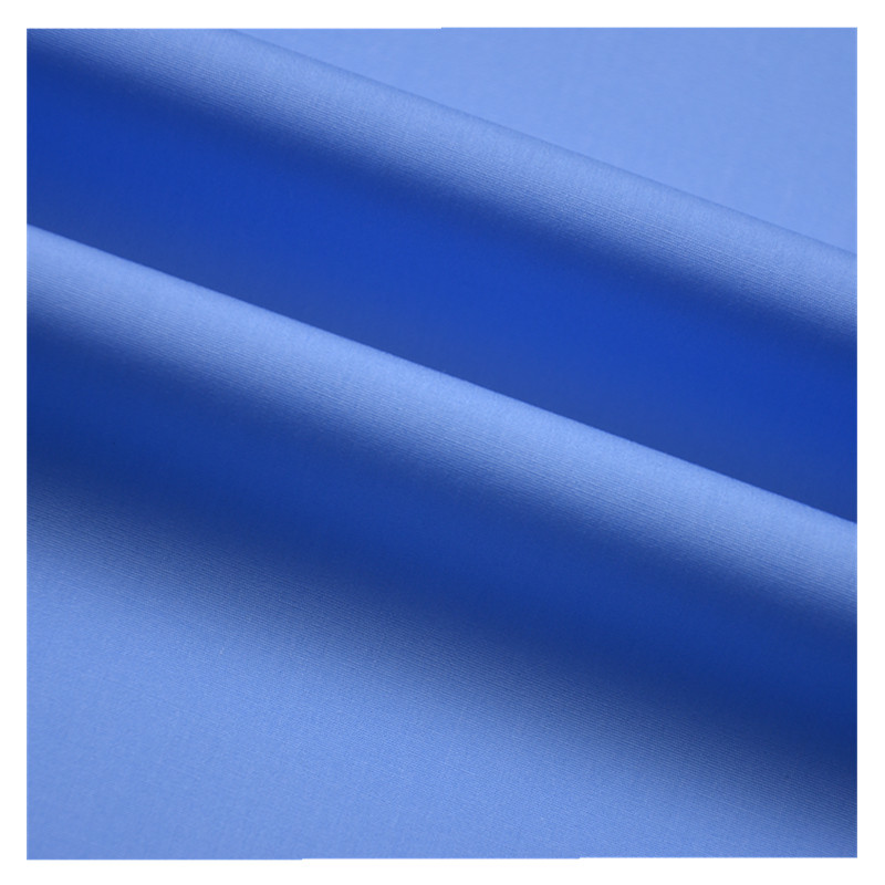 Bleu Polyester//Coton Robe Tissu-Lt envoi gratuit et emballage.