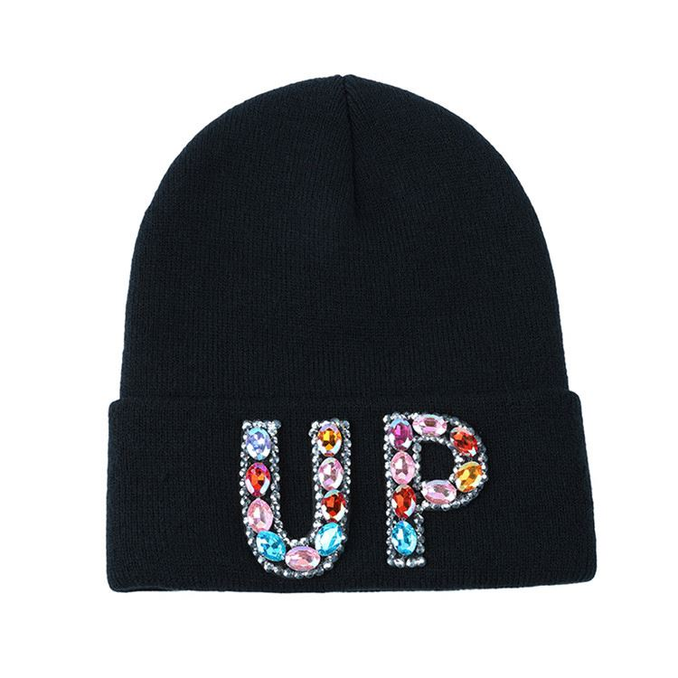 Newest selling attractive style jacquard men's knitted cap with many colors