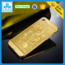 24K Gold Plating Dragon Design Mobile Phone Bumper for iPhone 7 7Plus