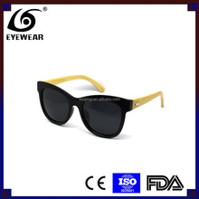Bamboo sunglasses,Eco-friendly Cat-eye plastic frame with bamboo temple