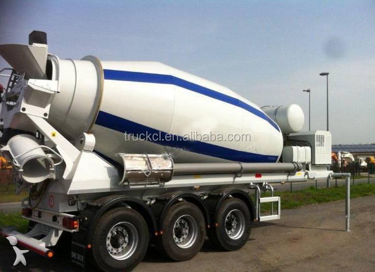 Weight Per Axle Semi Truck : Cbm cmb liters concrete mixer semi trailer