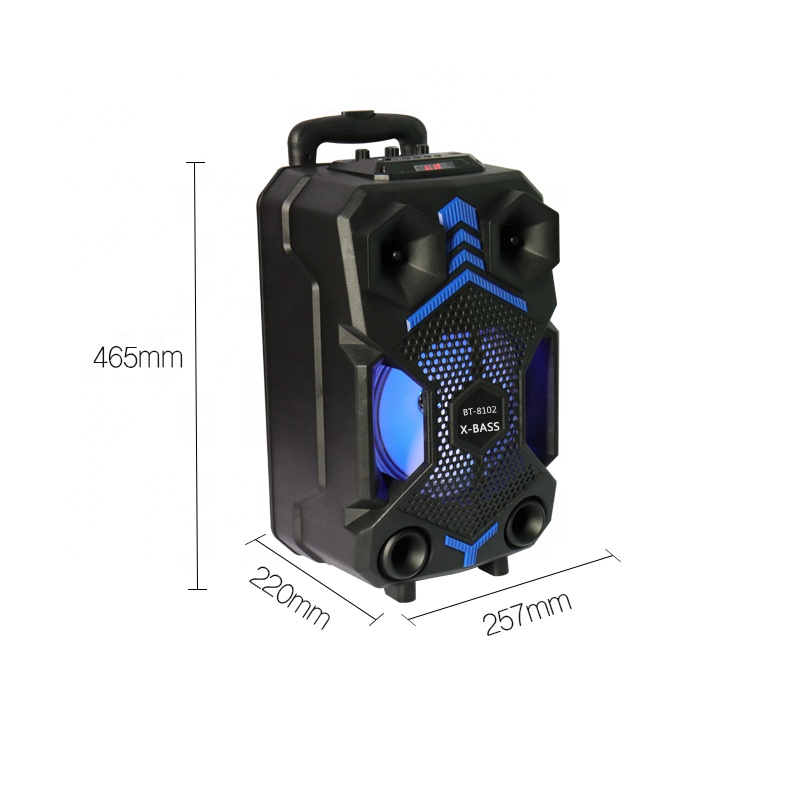 Baru Tiba TF/USB/AUX/FM Radio Trolley Speaker Bluetooth dengan MIC