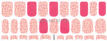 2015 ZD305 1 sheetsfashion rose mds series 3d wrap nail art polish stickers 30 strips each