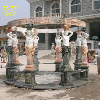 Outdoor Garden Decoration Sculpture Figure Statues And Column Gazebo