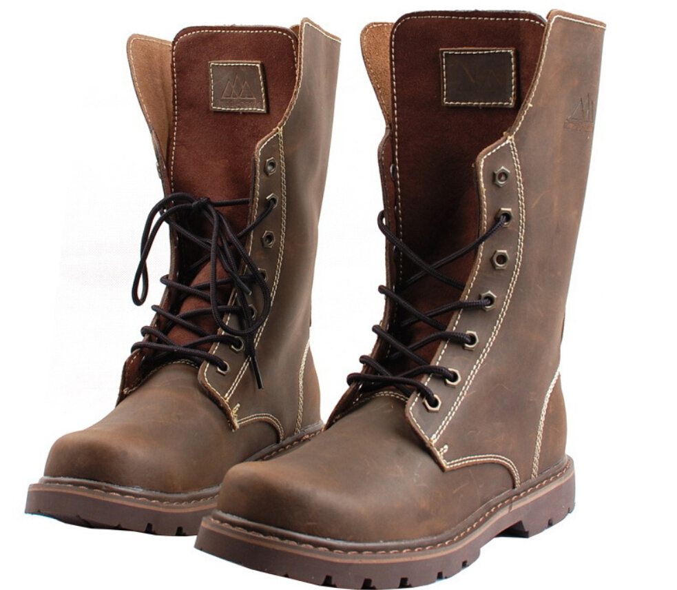 genuine leather combat boots boot ri