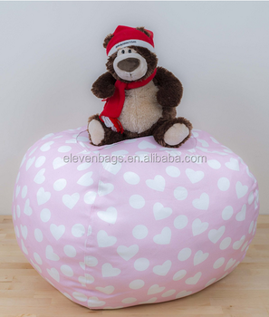 Durable Hot Selling Stuffed Animal Storage Bean Bag Chair