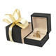 Romantic Ribbon Black Wooden Jewellery Ring Packaging Box