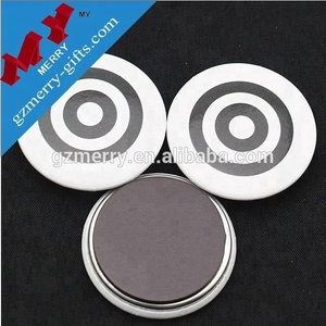 Lovely cheap tin magnetic button badge for refrigerator