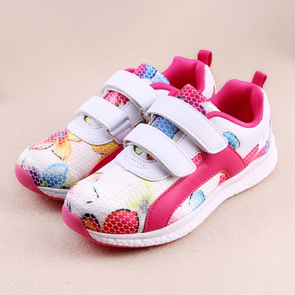 top quality children white red dotted sports shoes/sf breathable kid sports shoes/amazing sportsshoes