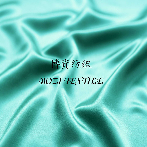 Turquoise green satin fabric for dress