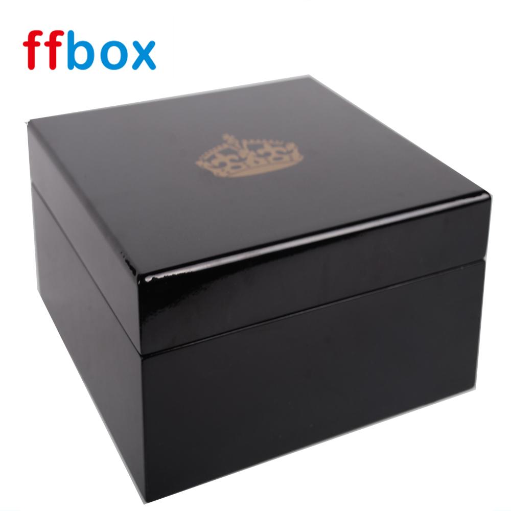 공장 도매 럭셔리 Golss 래커 단일 나무 시계 상자 이동 트레이