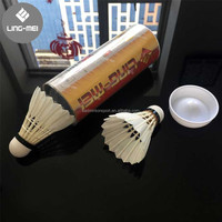 Original Ling Mei Shuttlecock A Class Goose Feather 70 Badminton A+ Durability And Flight