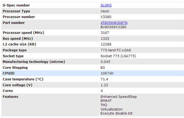 Intel Xeon X3380 (12m,3 16 Ghz,1333 Mhz) Slgpg At80569kj087n E0 Yorkfield -  Buy X3380,At80569kj087n,Slgpg Product on Alibaba com