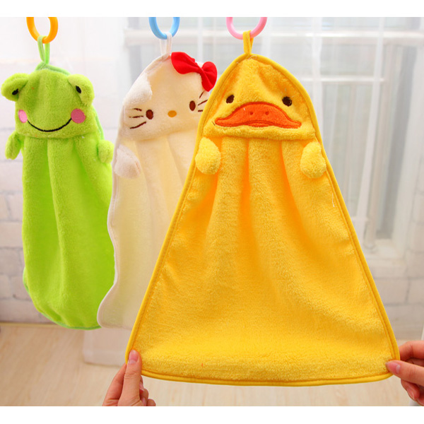 5 Color cartoon baby kids child infant newborn soft wash cloth bath feeding towel flannel wipe