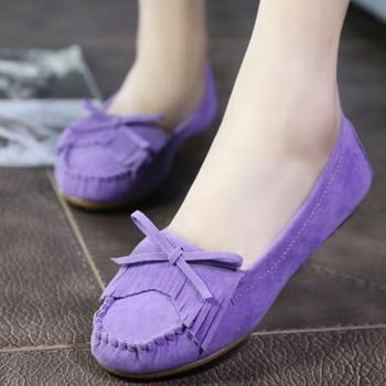 3598d68a860 cz18044a Fashion factory wholesale nubuck tassel bowknot casual flat shoes  elegant women loafers