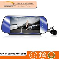 Hot selling 7 inch touch screen hd 720p hidden car rearview mirror camera dvr