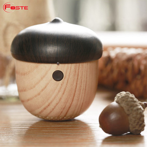 Cute Nut Shaped Outdoor / Mini Wooden Wireless Speaker, Ideal Christmas Gift, small&elegant shape