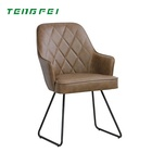 Leisure iron simple modern soft sofa dining chair back stool arm chairs