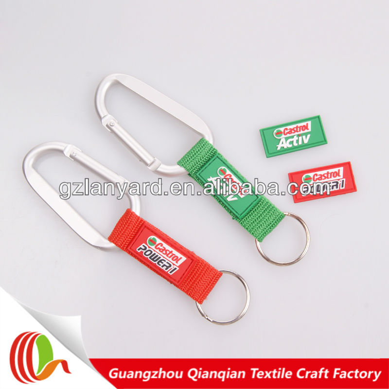 Custom design key chain lanyard with carabiner as promotion