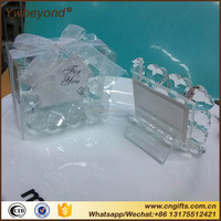 Unique Crystal Heart Shaped Place Card/Photo Holder Crystal Photo Frame For Wedding Decoration Favors