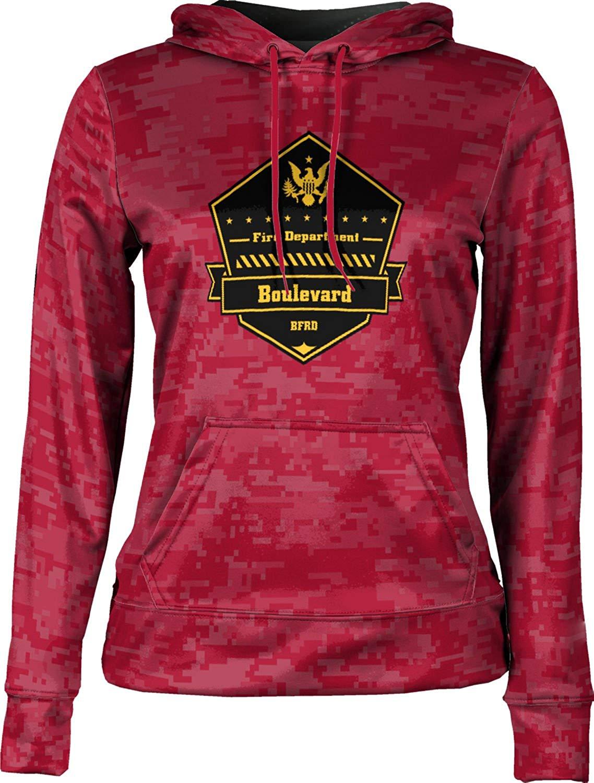 ProSphere Girls' Boulevard Fire and Rescue Department Fire Department Digital Hoodie Sweatshirt