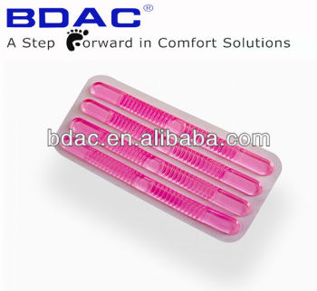 pink colour shoe thong gel strips
