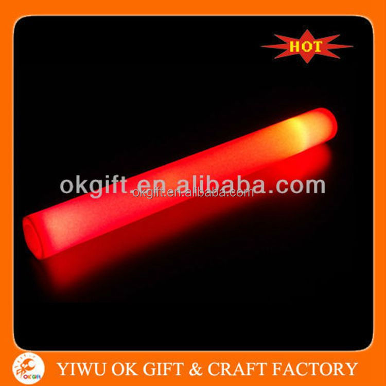 Eco-friendly Material Led Flashing Glowing Light Up Foam Stick In Stock