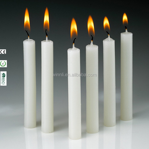customized color real wax flame taper candles white mini taper candles