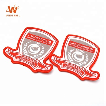 Cheap Customized Brand Name Private Logo Machine School Woven Badges