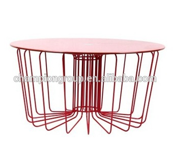 Steel Wire Coffee TableMetal Drum Coffee Table For Outdoor Use