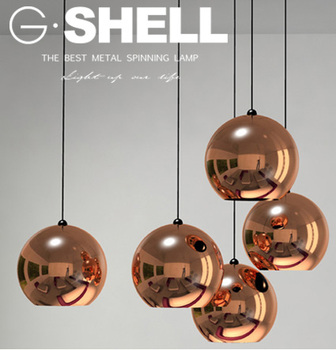 Round Ball Copper Simple Decorative Pendant Light For