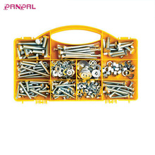 BSCI approved China factory 450pc Hex Head Bolts, Hex Nuts, And Washers - Assorted Kit - Re-Sealable Plastic Case