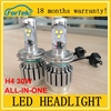 FAST START!!ALL-IN-ONE auto led bulb h4 30W 6000K car led headlight 3600lm