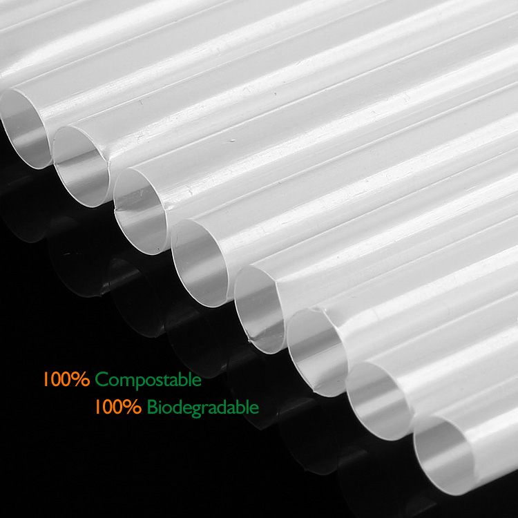 compostable straws (Made from PLA , Best used for beverages)