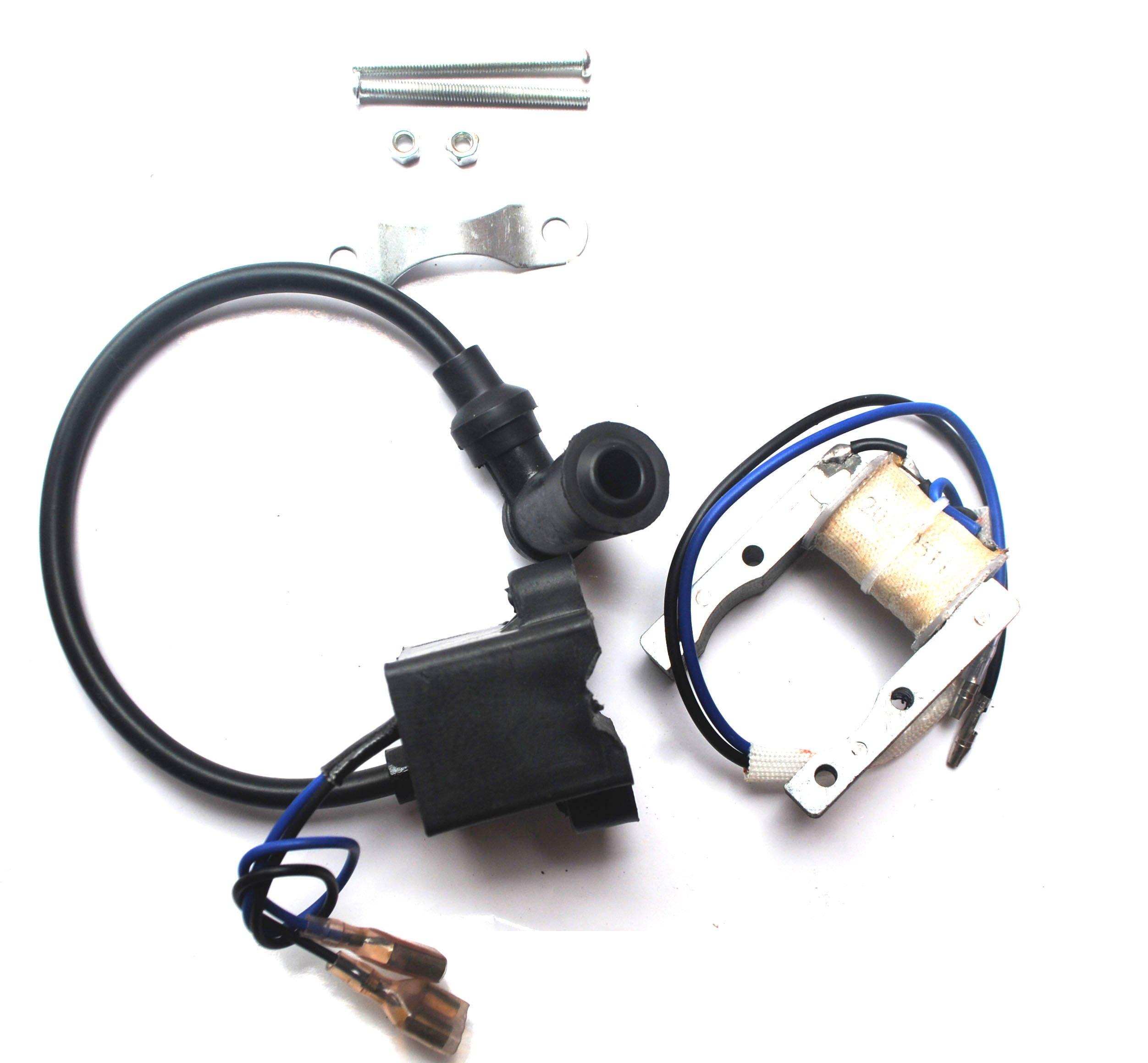 Bicycle Magneto Ignition Coil Spark Plug Motorized 49cc 50cc 66cc 80cc Engine