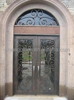 Wrought iron main entrance doors grill design buy iron Main entrance door grill