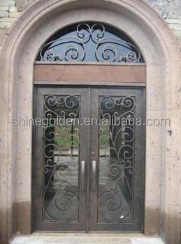 Wrought iron main entrance doors grill design buy iron Main entrance door grill