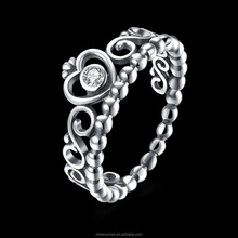 Crown <span class=keywords><strong>Schädel</strong></span> <span class=keywords><strong>Ring</strong></span> 925 Sterling Silber Royal Crown Ringe Krone Engagement <span class=keywords><strong>Ring</strong></span>